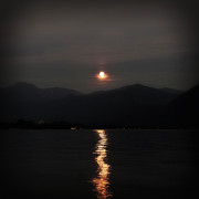 Lake Maggiore Posters - Full Moon Poster by Joana Kruse