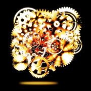Industrial Icon Metal Prints - Gears Wheels Design  Metal Print by Setsiri Silapasuwanchai