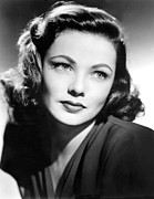 Eyelashes Prints - Gene Tierney, Circa 1940s Print by Everett
