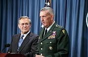 Rumsfeld Posters - General Tommy Franks Commander Of U.s Poster by Everett