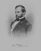 American History Framed Prints - General William Tecumseh Sherman Framed Print by War Is Hell Store