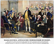 Second Continental Congress Prints - George Washington Print by Granger