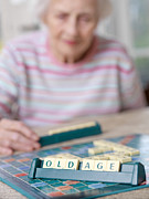 Board Game Photo Prints - Geriatric Care Print by Tek Image