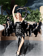 Slit Dress Framed Prints - Gilda, Rita Hayworth, 1946 Framed Print by Everett
