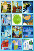 Fizz Digital Art Posters - Gin Poster by Laura Toth