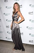 Silver Dress Prints - Gisele Bundchen At Arrivals For The Print by Everett