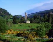 Woodland Scenes Prints - Glendalough, Co Wicklow, Ireland Print by The Irish Image Collection