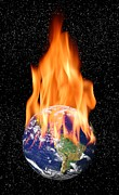 Warming Up Prints - Global Warming, Conceptual Artwork Print by Victor De Schwanberg