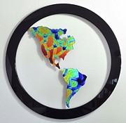 Science Fiction Glass Art Originals - Global Warming II by Michelle Ferry