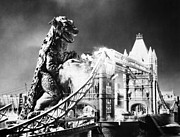 Ruin Photo Metal Prints - Godzilla Metal Print by Granger