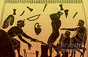 Smithy Prints - Greek Blacksmith, 6th Century Bc Print by Science Source