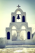 Bell Tower Framed Prints - Greek Chapel Framed Print by Joana Kruse