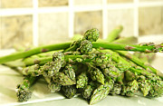 Vegetables Art - Green asparagus by Blink Images