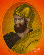Portrait Woodblock Prints - Hannibal, Carthaginian Military Print by Photo Researchers