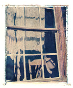 Polaroid Transfer Prints - Hat and Chair in Window Print by Joe  Palermo