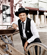 1950s Portraits Photo Metal Prints - High Noon, Gary Cooper, 1952 Metal Print by Everett