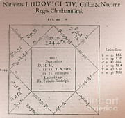 Horoscope Chart For Louis Xiv, 1661 Print by Science Source