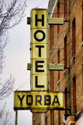 Yellow Bridge Digital Art Posters - Hotel Yorba Poster by Gordon Dean II