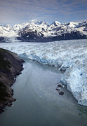Mountain Art - Hubbard Glacier Encroaching On Gilbert Point by Matthias Breiter
