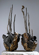 Indoor Ceramics - Hypertufa primitive pottery sculptures - Set of 2 - SOLD by Randy Stewart