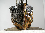 Pots Ceramics - Hypertufa primitive pottery sculptures by Randy Stewart