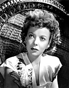 Earrings Photo Posters - Ida Lupino, Portrait Poster by Everett