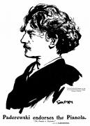 Pianist Framed Prints - Ignace Jan Paderewski Framed Print by Granger