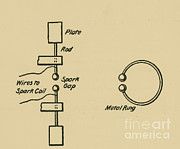 Circuit Photos - Illustration Of Hertzs Oscillator by Science Source