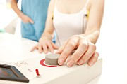 Hyperhidrosis Photo Prints - Iontophoresis For Excess Sweating Print by
