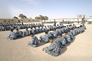 Law Enforcement Prints - Iraqi Police Cadets Being Trained Print by Andrew Chittock