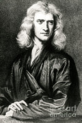 Isaac Framed Prints - Isaac Newton, English Polymath Framed Print by Science Source