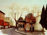 Old Tram Paintings - Istanbul by Husnu Konuk
