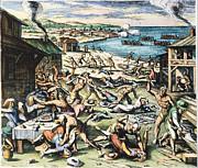 Jamestown: Massacre, 1622 Print by Granger