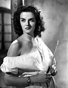 Bare Shoulder Metal Prints - Jane Russell, Portrait Metal Print by Everett