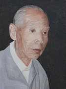 Old Age Paintings - Japanese Man by Masami Iida