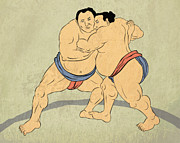 Isolated Digital Art - Japanese sumo wrestler by Aloysius Patrimonio