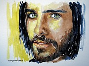 Singer Painting Metal Prints - Jared Leto Metal Print by Francoise Dugourd-Caput