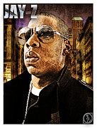 Fan Art Mixed Media Framed Prints - Jay Z Framed Print by The DigArtisT