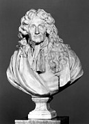 Portrait Sculpture Photograph Framed Prints - Jean De La Fontaine Framed Print by Granger