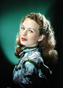 Puffed Sleeves Prints - Jeanne Crain Print by Everett