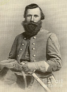 Confederacy Framed Prints - Jeb Stuart, Confederate General Framed Print by Photo Researchers