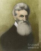 Abolition Framed Prints - John Brown, American Abolitionist Framed Print by Photo Researchers
