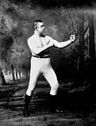 Heavyweight Photos - John L. Sullivan (1858-1918) by Granger