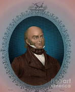 President Adams Framed Prints - John Quincy Adams, 6th American Framed Print by Photo Researchers