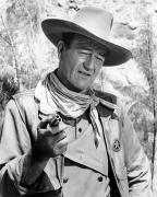 Costume Metal Prints - John Wayne (1907-1979) Metal Print by Granger