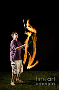 Biomechanic Art - Juggling Fire by Ted Kinsman