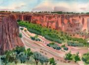Tribal Painting Originals - Junction Canyon de Chelly by Donald Maier