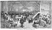 Exodus Framed Prints - Kansas: Black Exodus, 1879 Framed Print by Granger