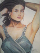 Spiderman Drawings - Kareena Kapoor by Sandeep Kumar Sahota