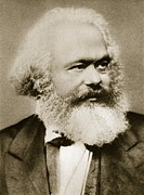 Portraiture Photo Framed Prints - Karl Marx Framed Print by Unknown